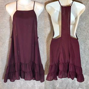 Free People Intimately Burgundy Slip Dress, Medium